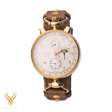 WRIGHT BROTHERS Aviator Chronograph 31679 MOONPHASE GOLD