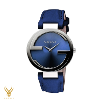 GUCCI Blue Dial Blue Leather Ladies Watch YA133322