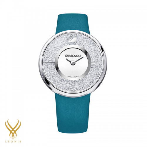 Swarovski crystalline green blue watch