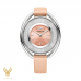 CRYSTALLINE OVAL WHITE TONE WATCH 37MM